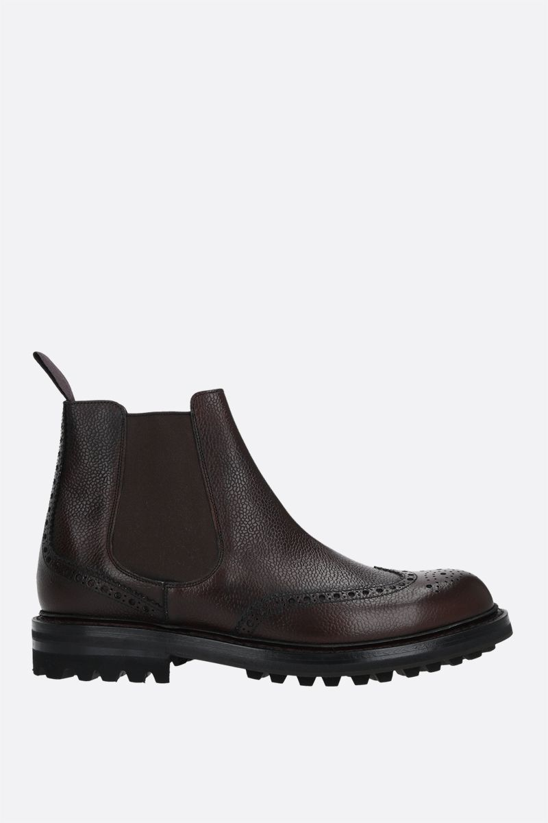 CHURCH'S: MC Entyre LW chelsea boots in Highland leather Color Brown_1