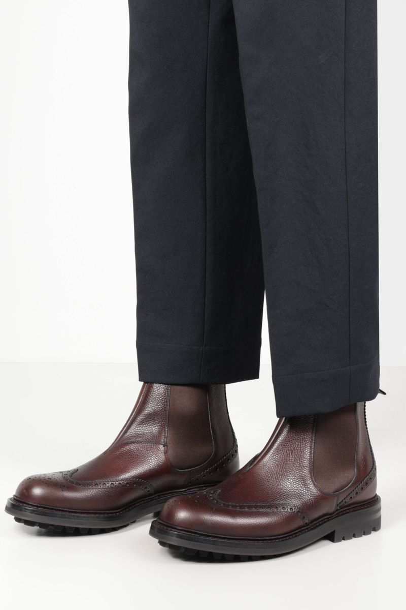 CHURCH'S: MC Entyre LW chelsea boots in Highland leather Color Brown_2