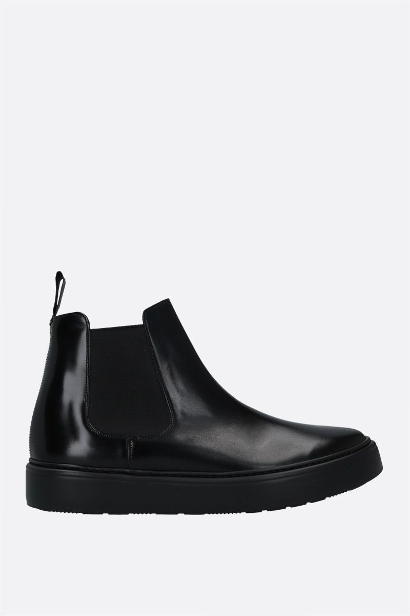 CHURCH'S: Wells We brushed leather chelsea boots Color Black_1