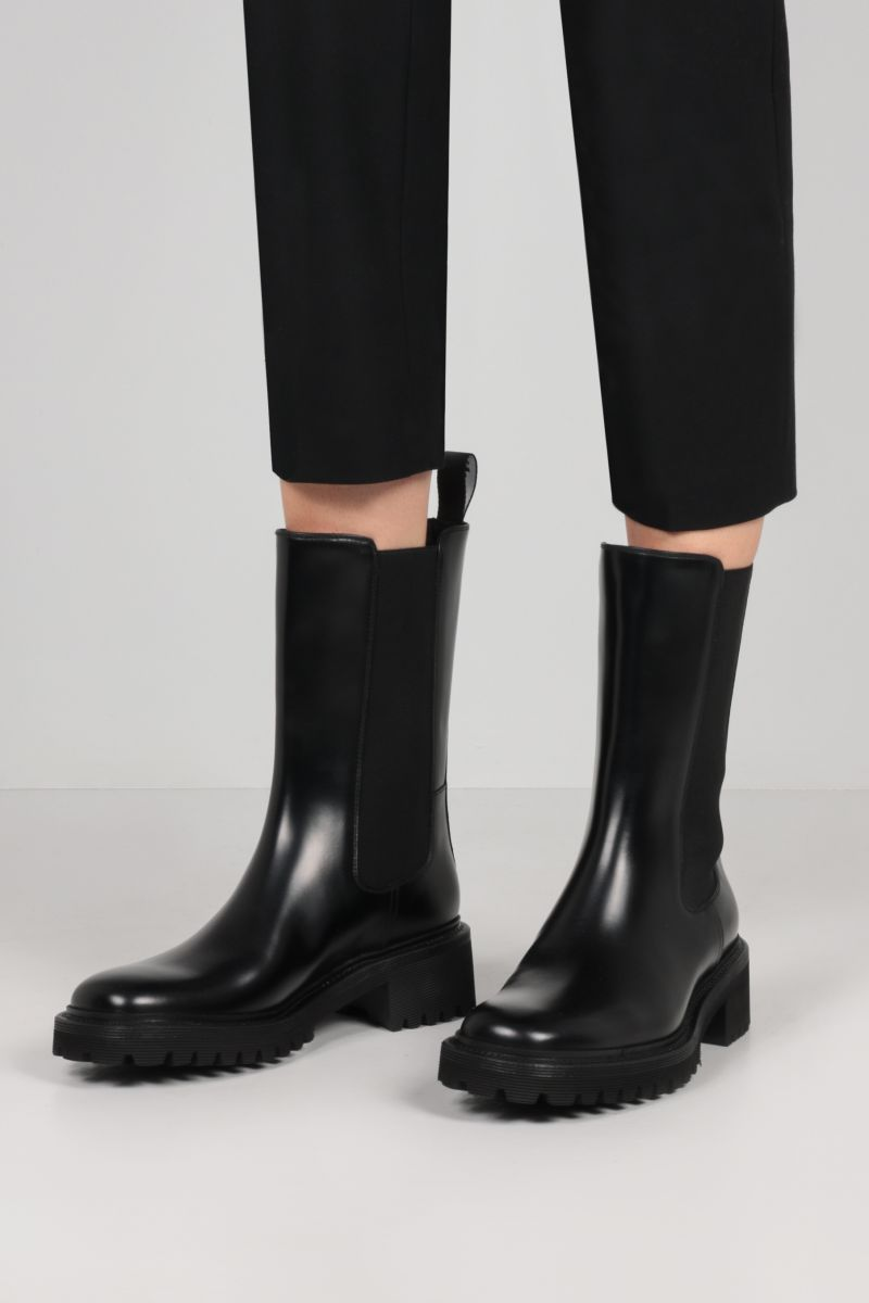 CHURCH'S: Gaelle rois brushed leather boots Color Black_2
