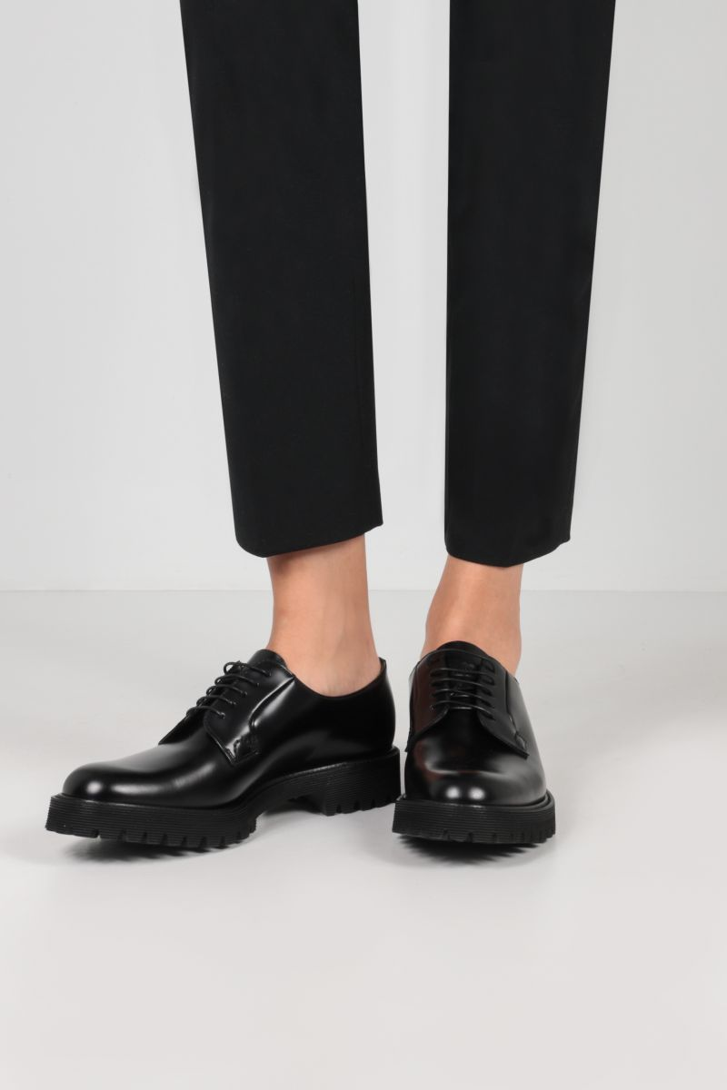 CHURCH'S: Shannon derby shoes in Rois leather Color Black_2