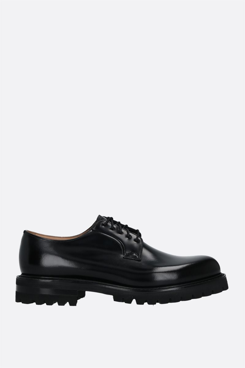 CHURCH'S: Shannon T brushed leather derby shoes Color Black_1