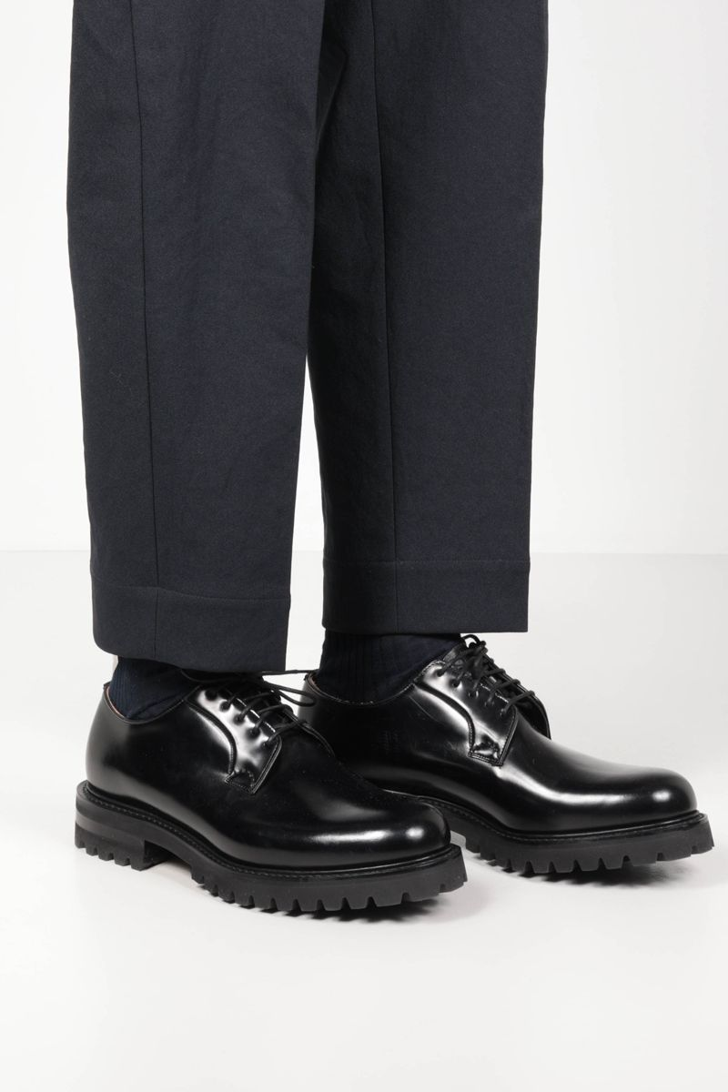 CHURCH'S: Shannon T brushed leather derby shoes Color Black_2