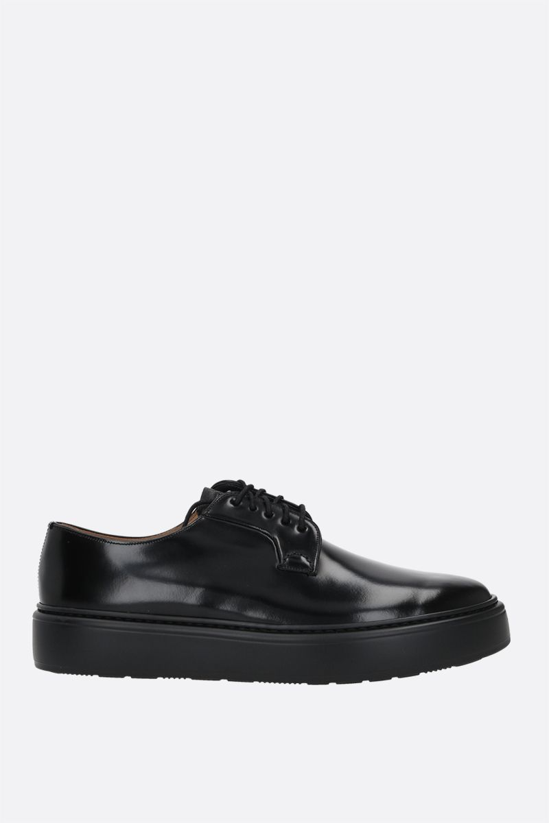 CHURCH'S: Shannon WE brushed leather derby shoes Color Black_1