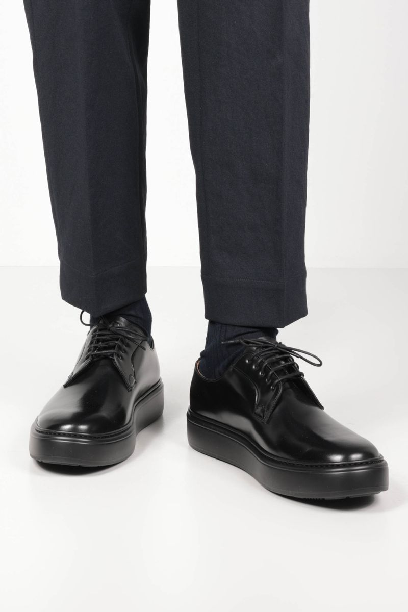 CHURCH'S: Shannon WE brushed leather derby shoes Color Black_2