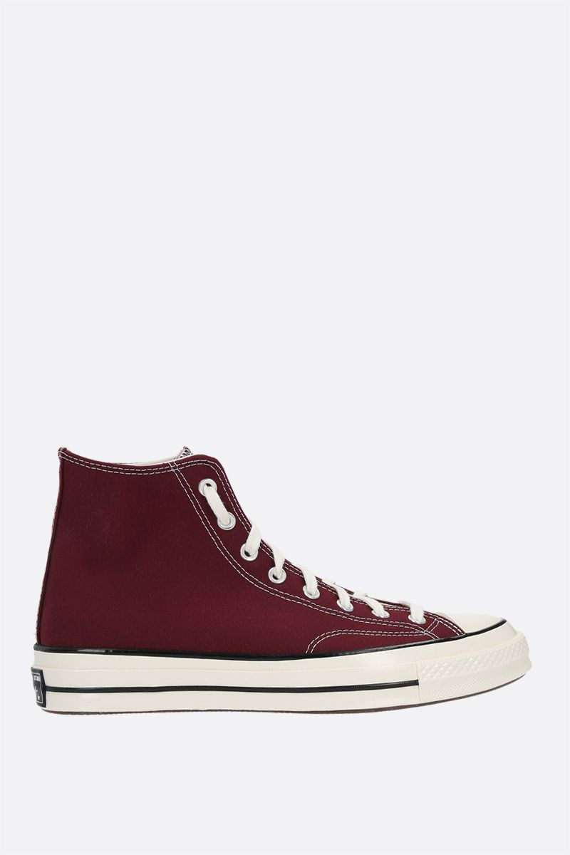 CONVERSE: sneaker high-top Chuck 70 in canvas Colore Red_1