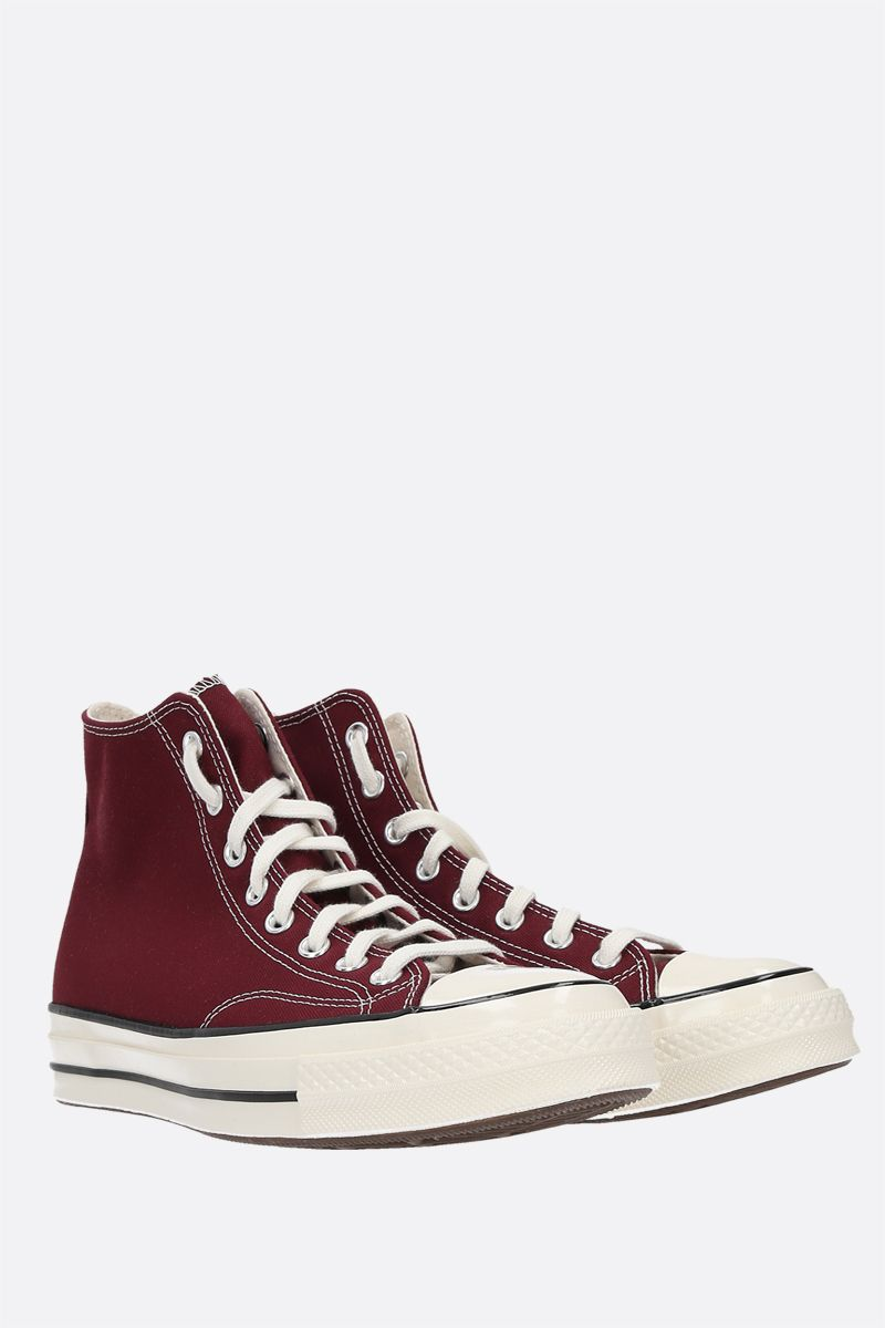 CONVERSE: sneaker high-top Chuck 70 in canvas Colore Red_2