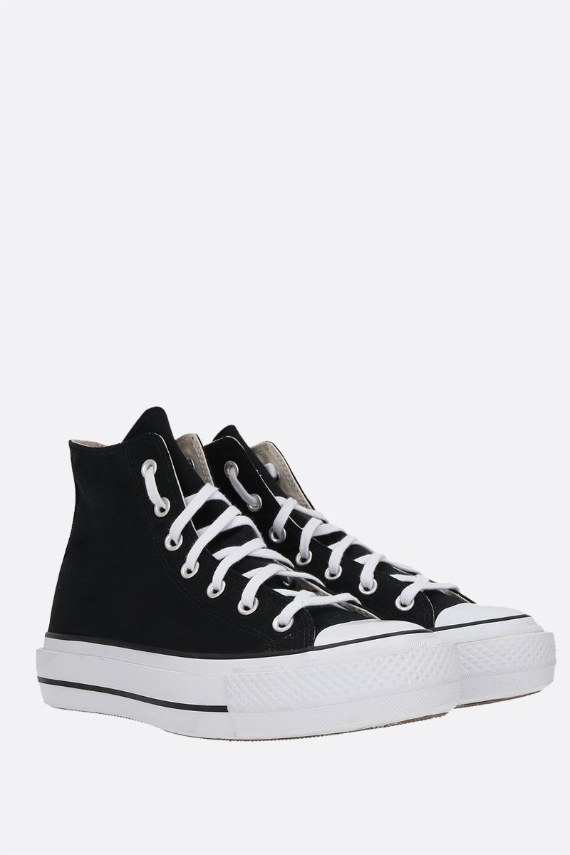 CONVERSE: Chuck Taylor All Star canvas flatform high-top sneakers Color Black_2