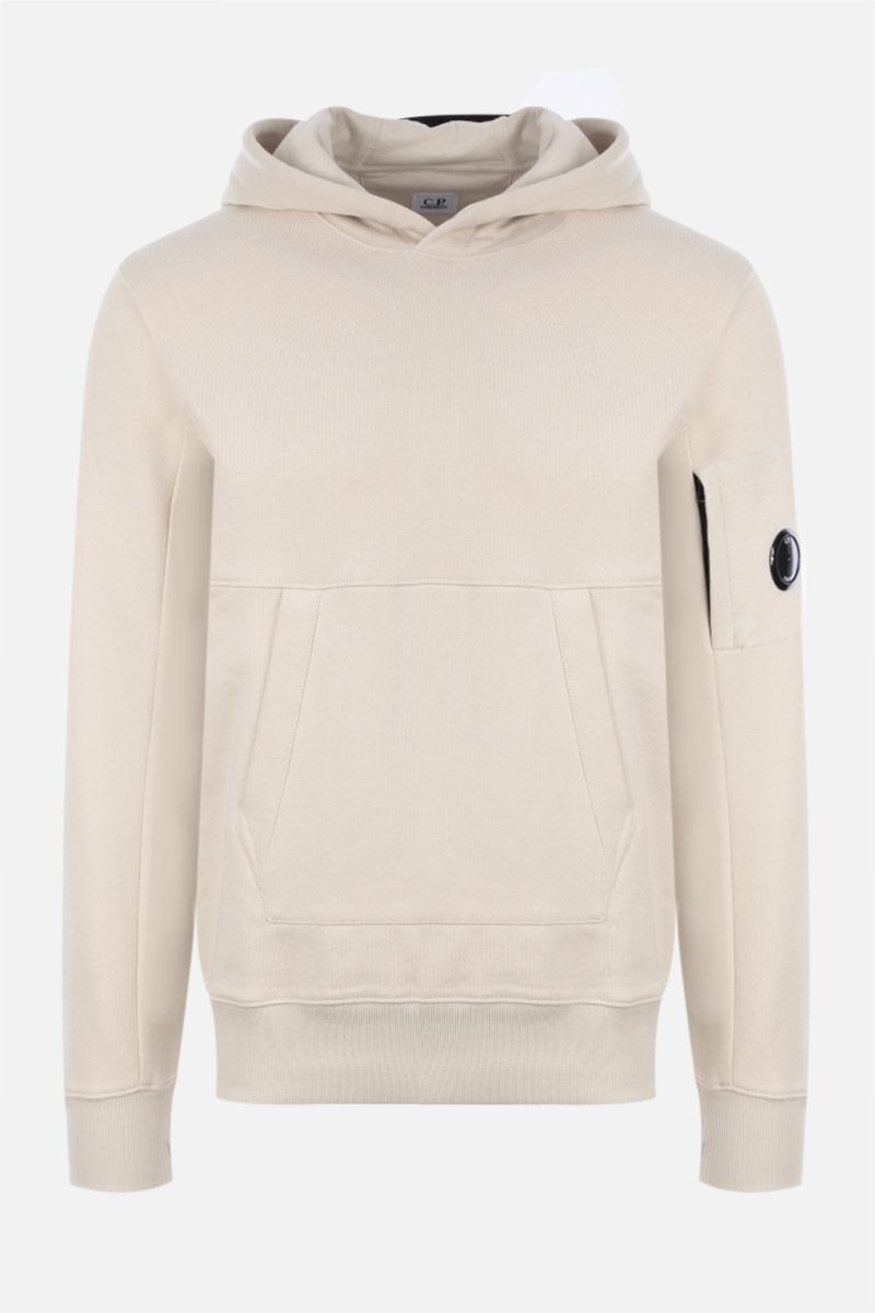 CP COMPANY: logo-detailed cotton hoodie_1