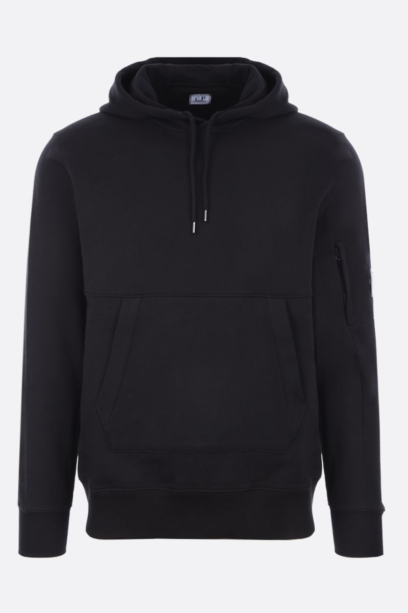 CP COMPANY: logo-detailed cotton hoodie Color Black_1