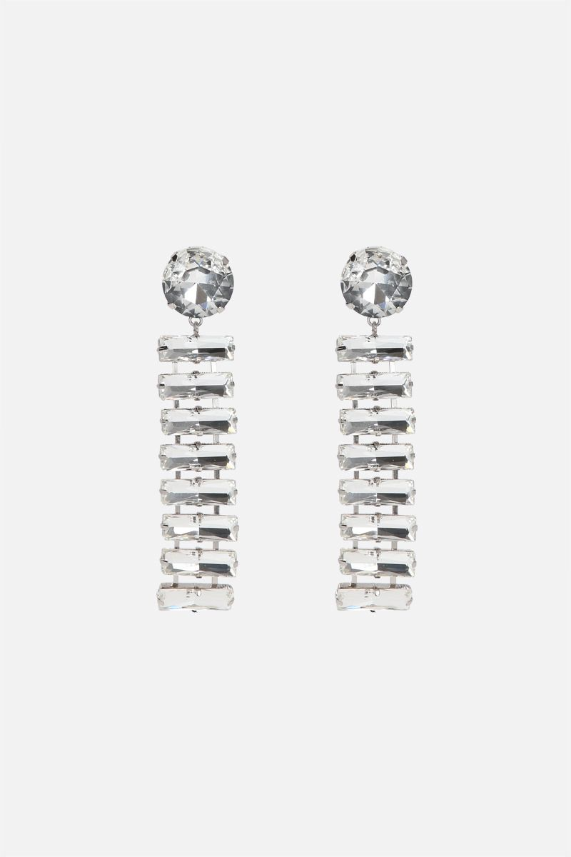 DEA: Nike metal and crystals pendant earrings Color Neutral_1