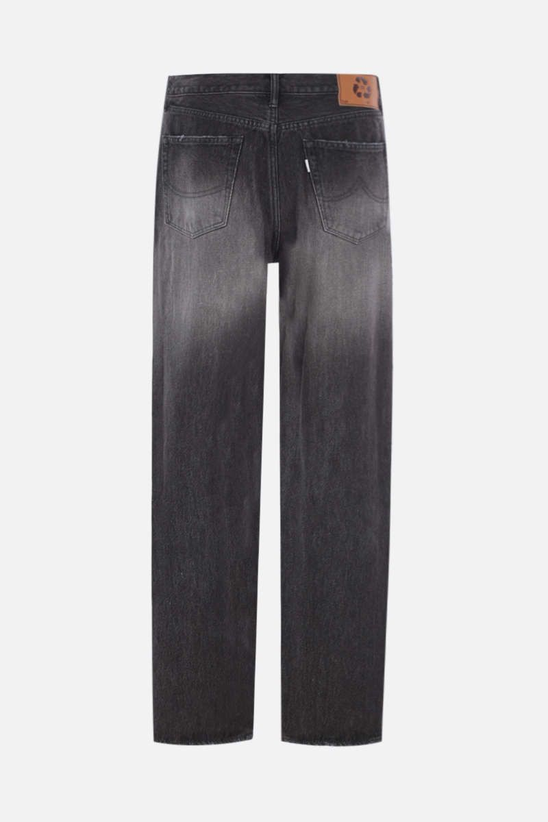 DOUBLET: jeans a gamba dritta Monster Repair Colore Black_2