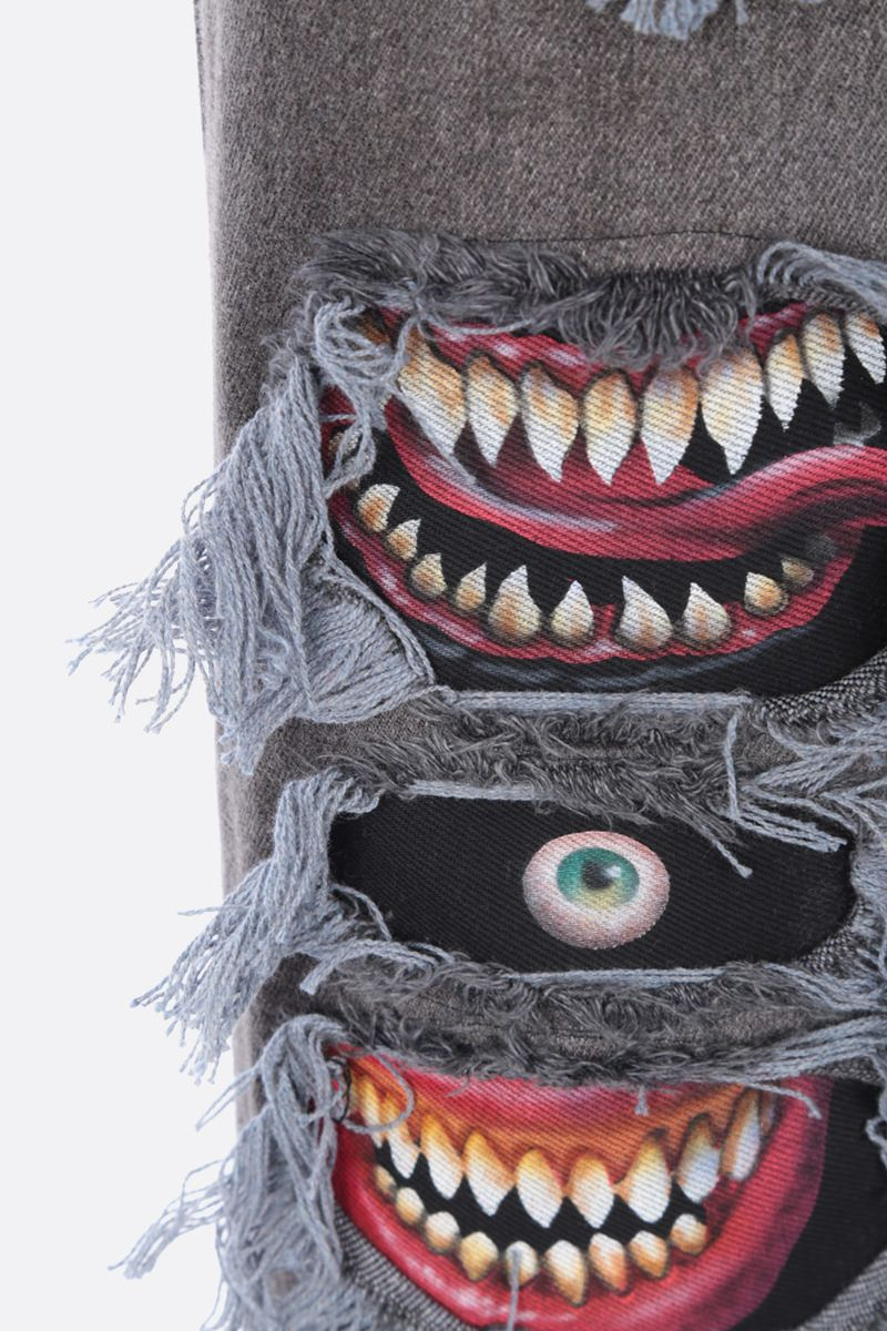 DOUBLET: jeans a gamba dritta Monster Repair Colore Black_3