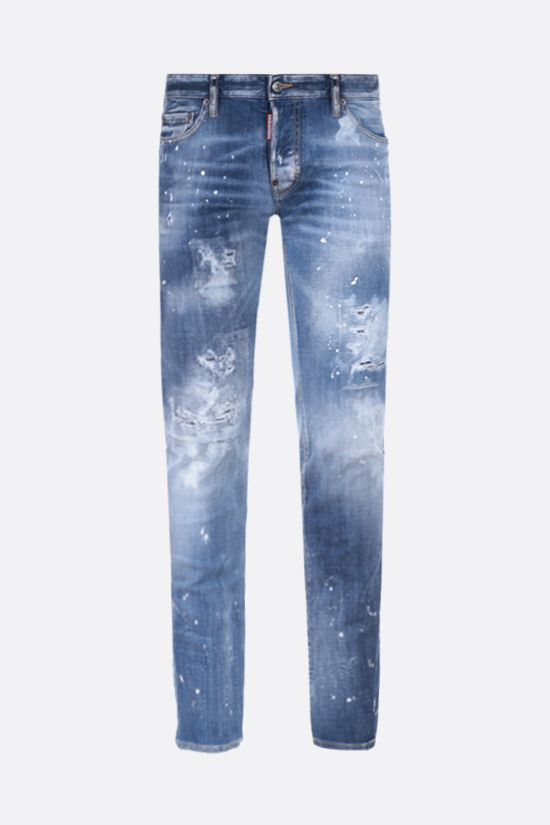 DSQUARED2: Slim distressed-effect jeans Color Blue_1