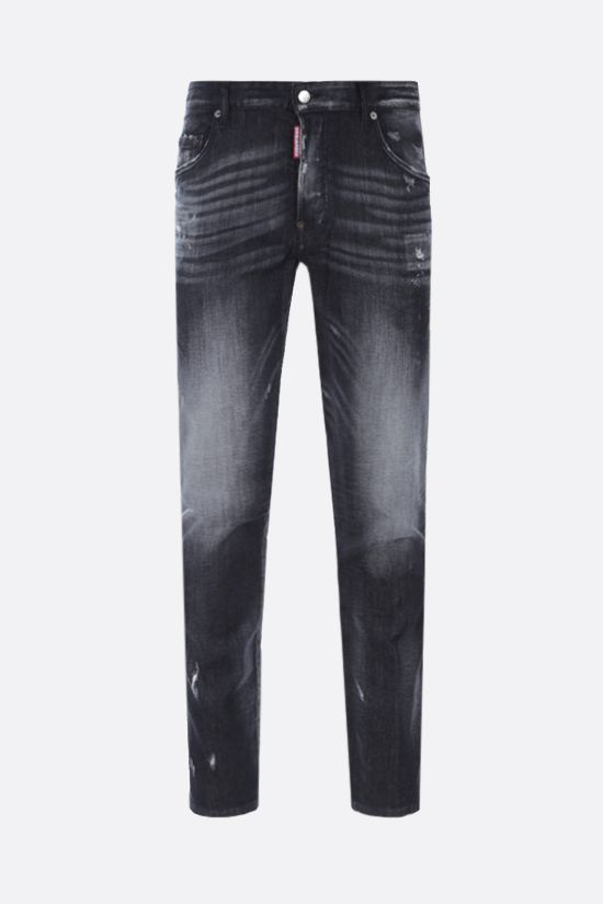 DSQUARED2: Skater distressed-effect jeans Color Black_1