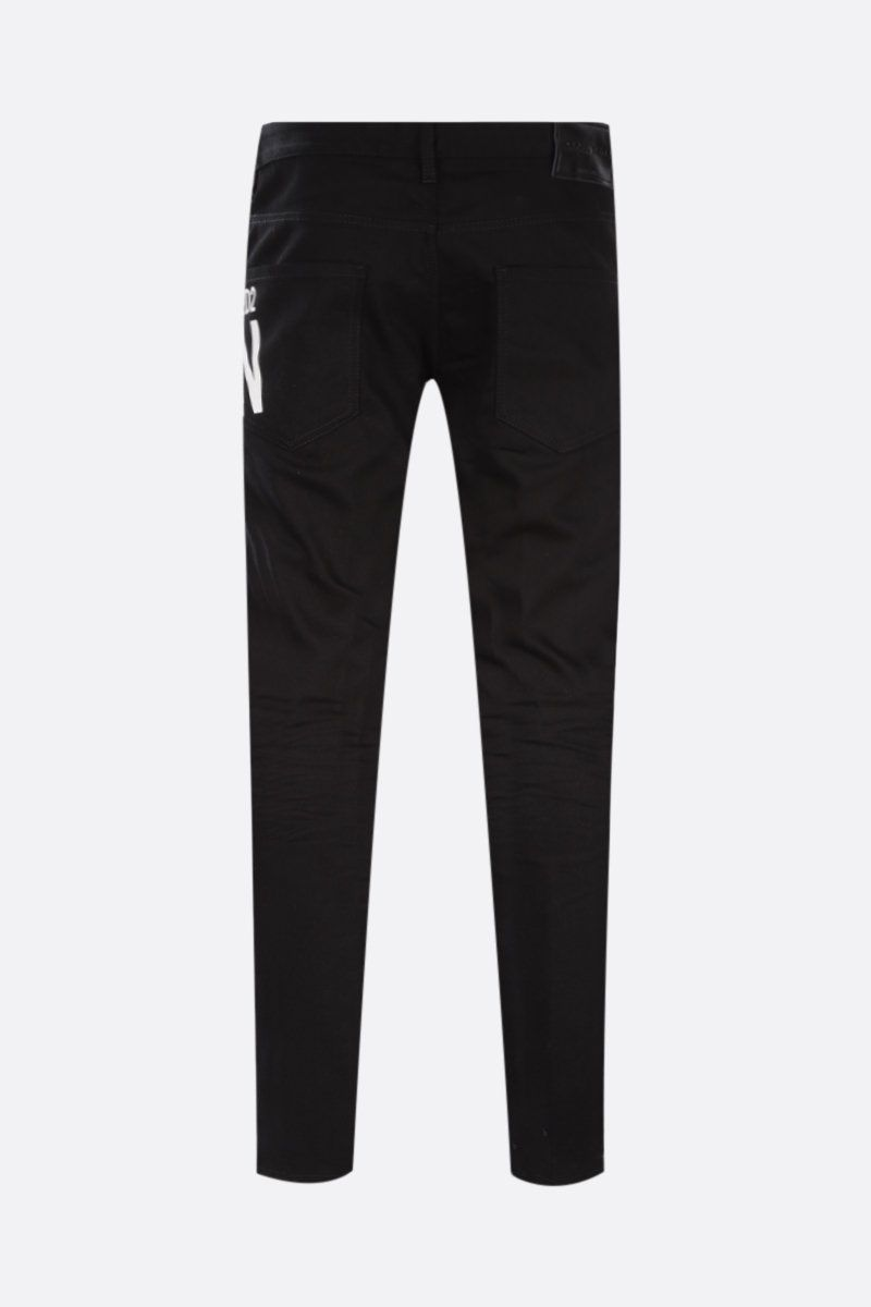 DSQUARED2: Skater jeans with Icon Dsquared2 print Color Black_2