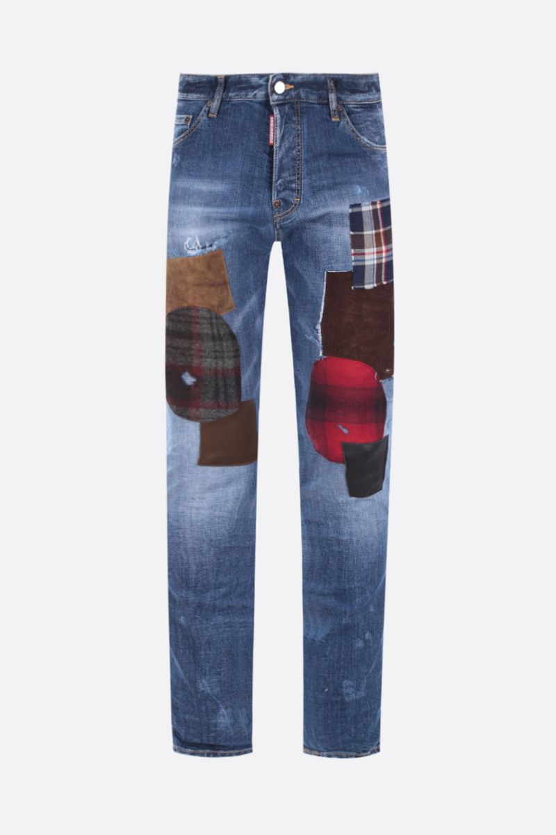 DSQUARED2: Cool Guy patch-detailed jeans Color Blue_1