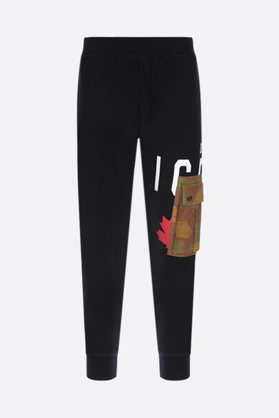 DSQUARED2: cargo pocket cotton joggers Color Black_1