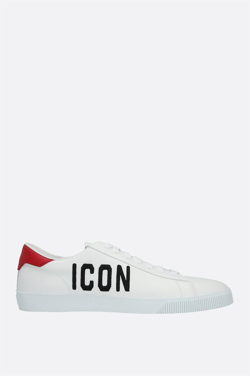 DSQUARED2: Cassetta smooth leather sneakers Color Multicolor_1