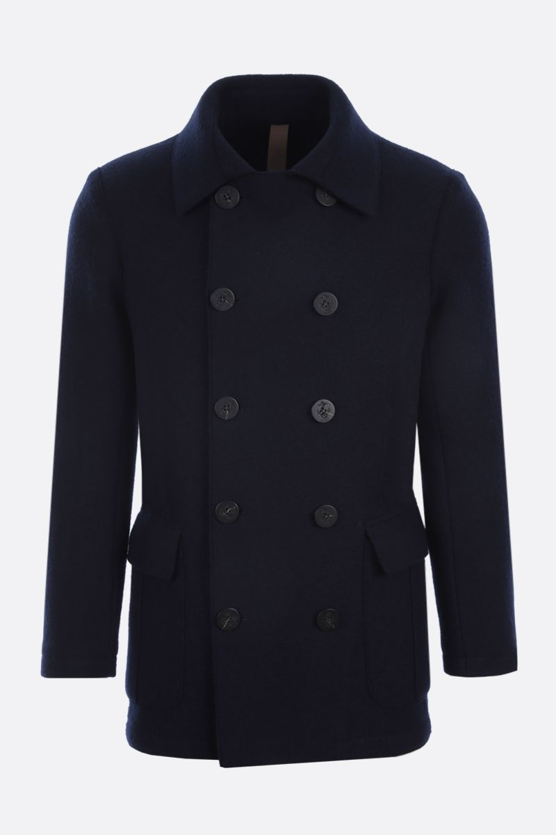 ELEVENTY: double-breasted wool coat Color Blue_1