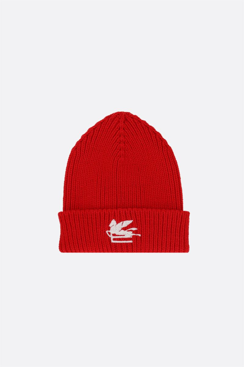 ETRO: Pegaso embroidered wool beanie Color Red_1