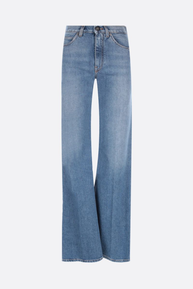 ETRO: logo embroidered flared jeans Color Blue_1