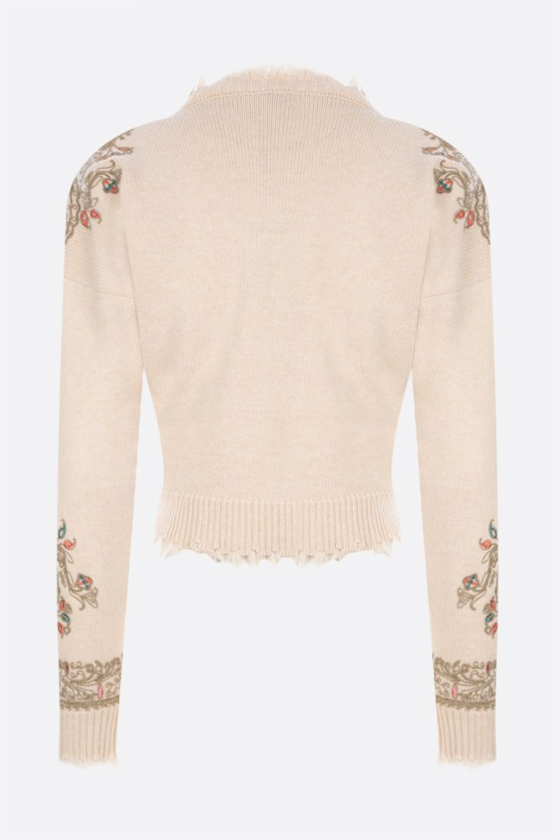 ETRO: Paisley-embroidered wool pullover Color Neutral_2