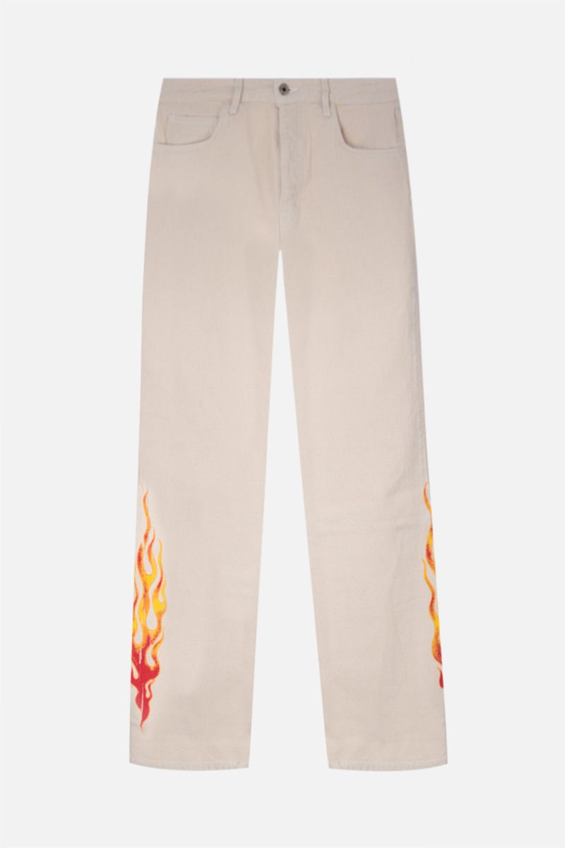 GALLERY DEPT: Logan flame print bootcut jeans Color Neutral_1