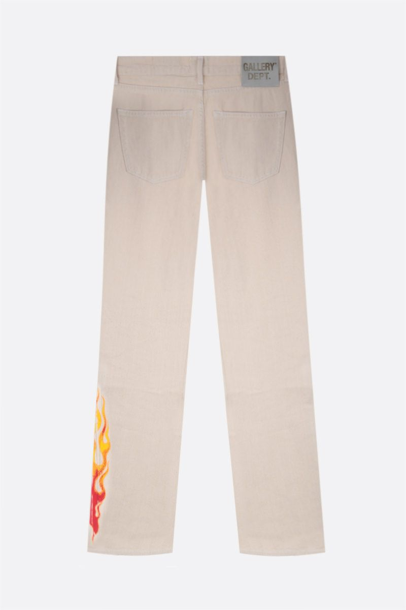 GALLERY DEPT: Logan flame print bootcut jeans Color Neutral_2