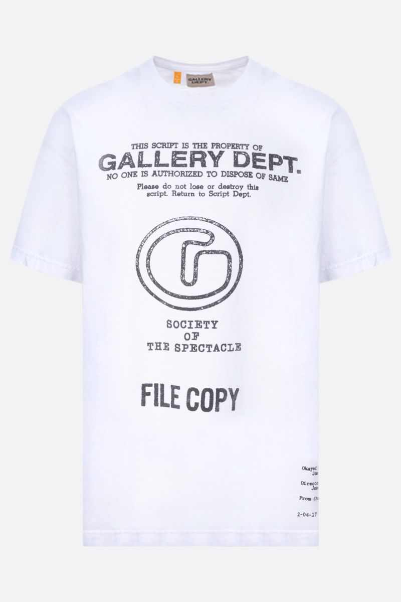 GALLERY DEPT: Society Of The Spectacle cotton t-shirt Color White_1