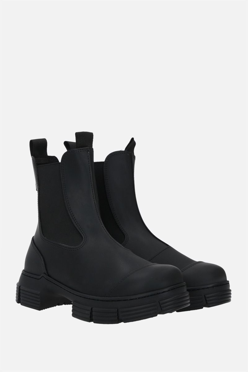 GANNI: City recycled rubber chelsea boots Color Black_2
