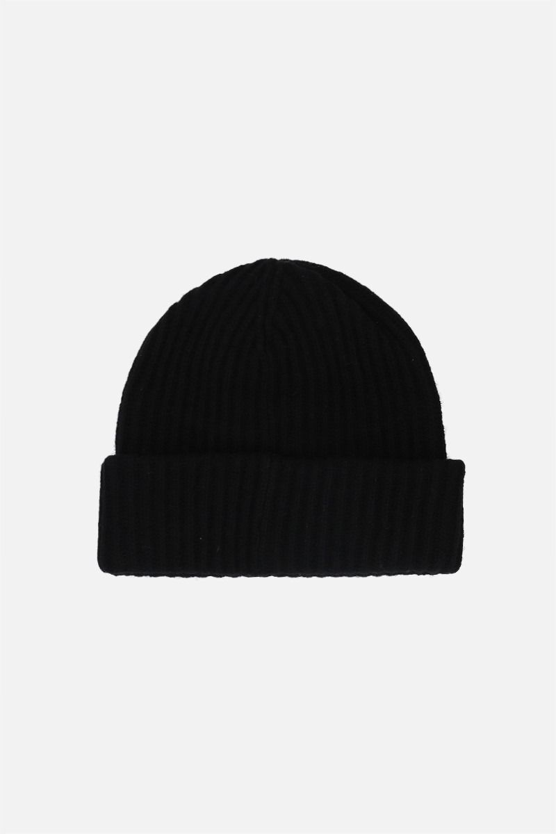 GANNI: recycled wool blend beanie Color Black_2