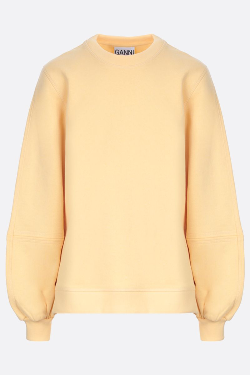 GANNI: Software Isoli recycled cotton blend sweatshirt Color Yellow_1