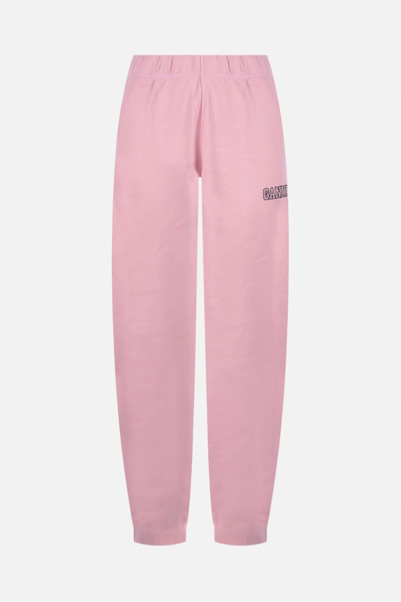 GANNI: Software Isoli jersey joggers Color Pink_1