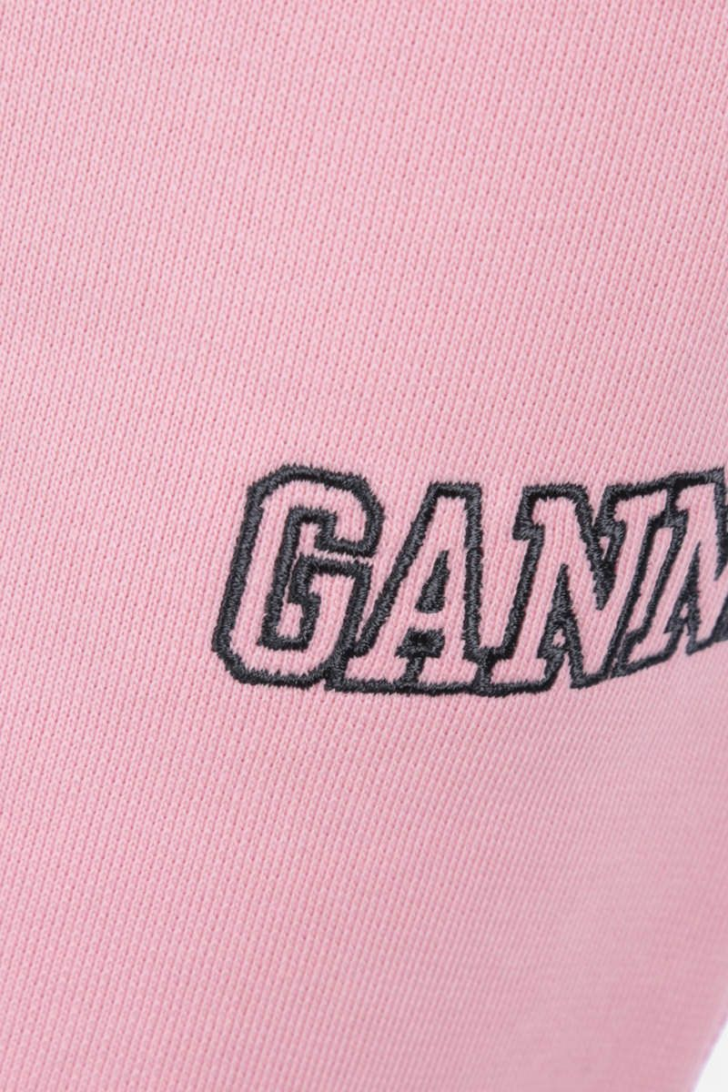 GANNI: pantalone jogging Software Isoli in jersey Colore Pink_4