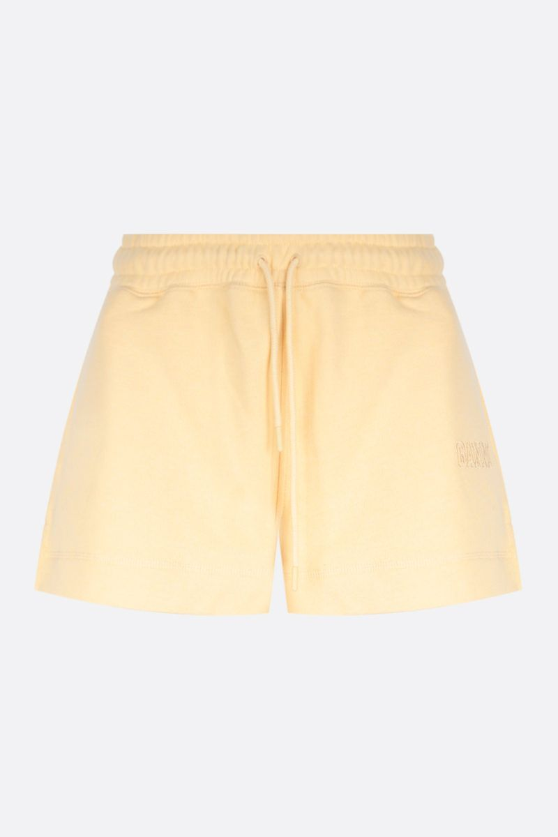 GANNI: Software Isoli recycled cotton blend shorts Color Yellow_1