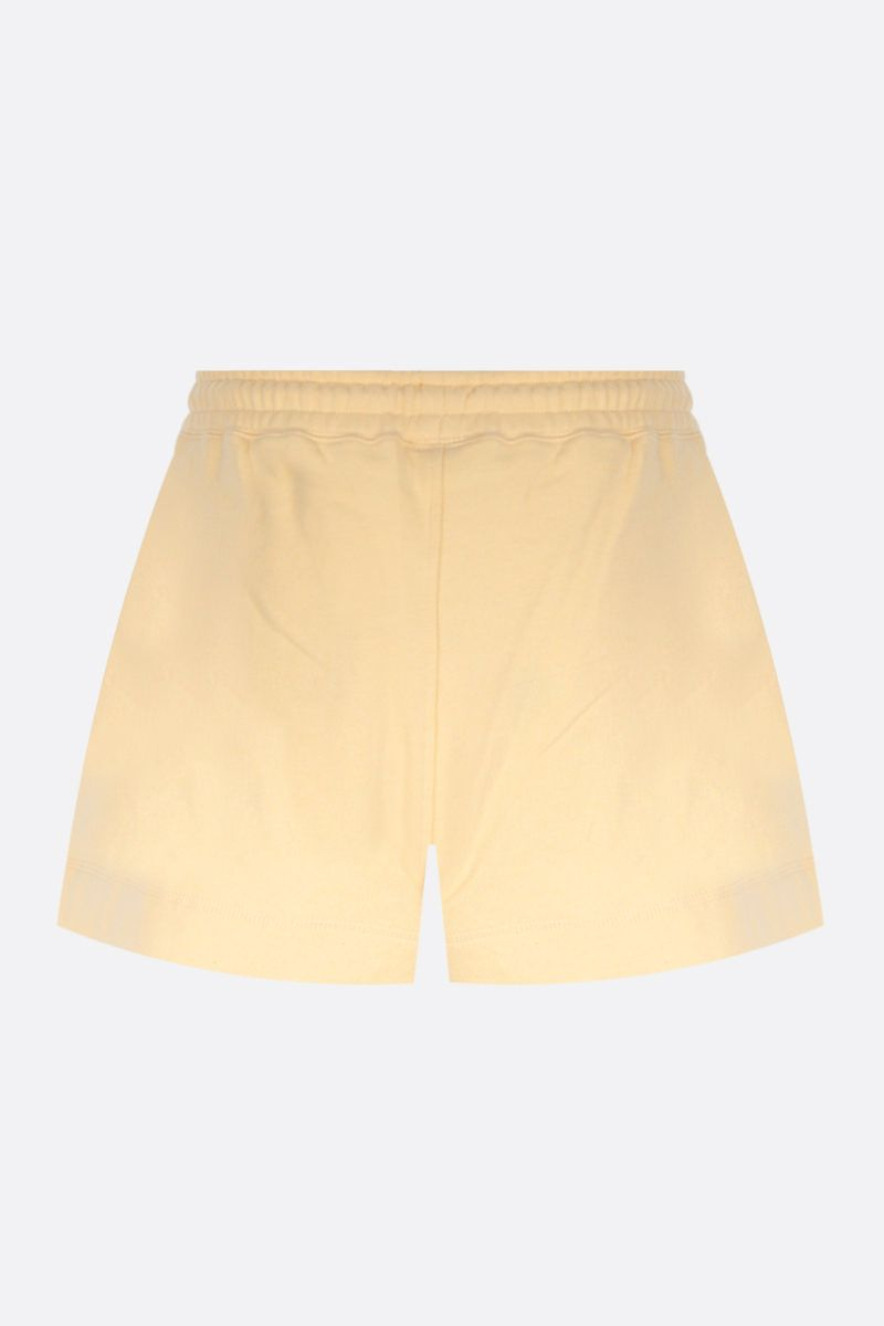 GANNI: Software Isoli recycled cotton blend shorts Color Yellow_2
