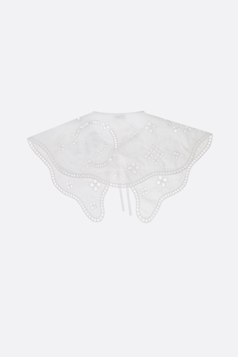 GANNI: broderie anglaise collar Color White_2