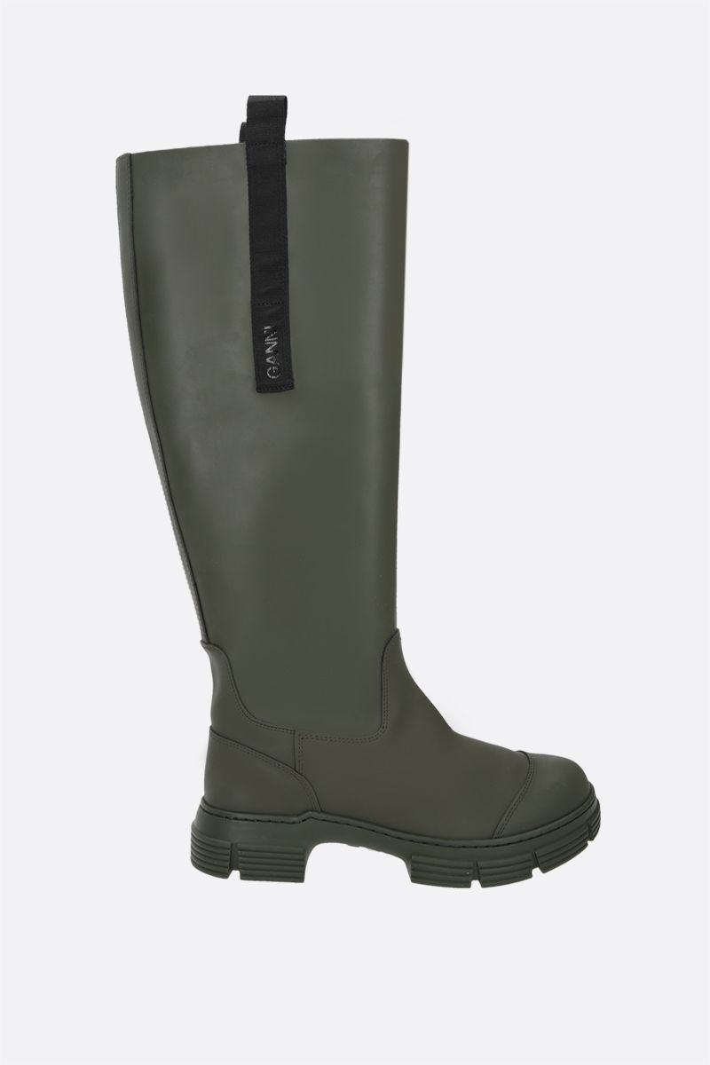 GANNI: recycled rubber boots Color Green_1