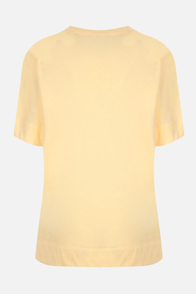 GANNI: Software recycled cotton blend t-shirt Color Yellow_2