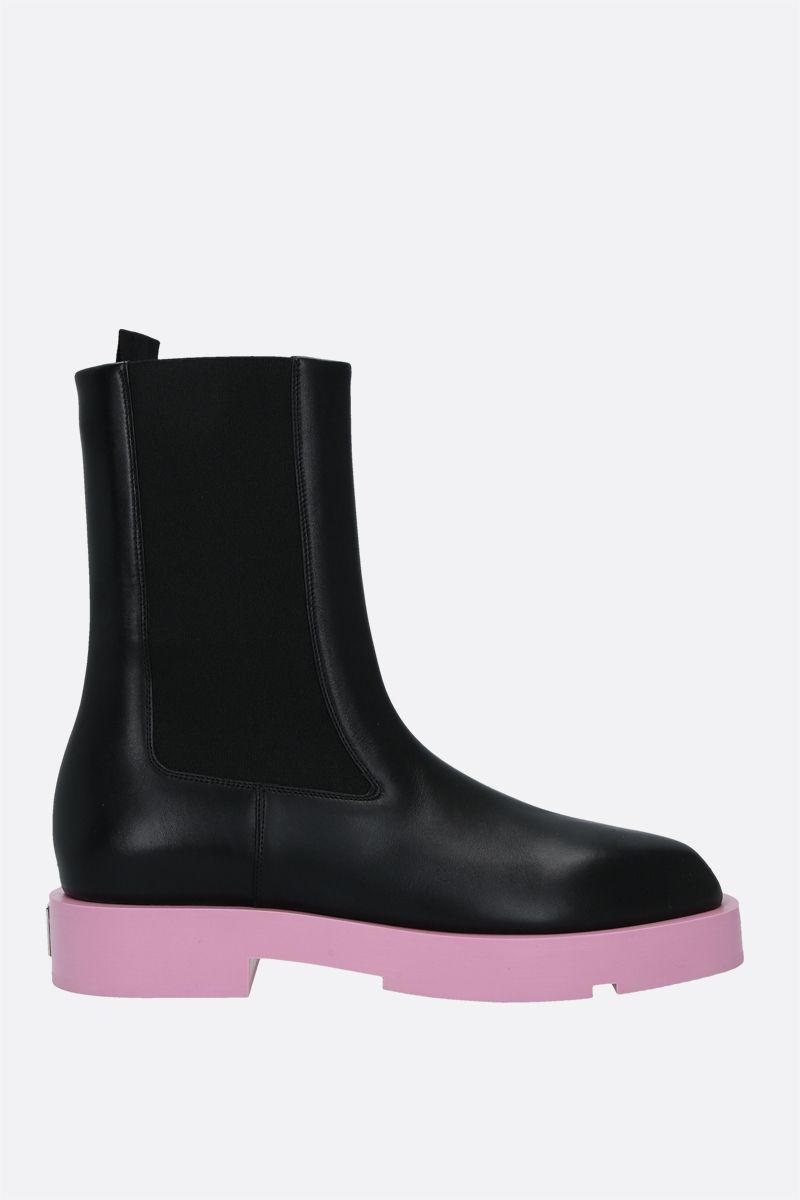 GIVENCHY: 4G-detailed smooth leather chelsea boots Color Black_1