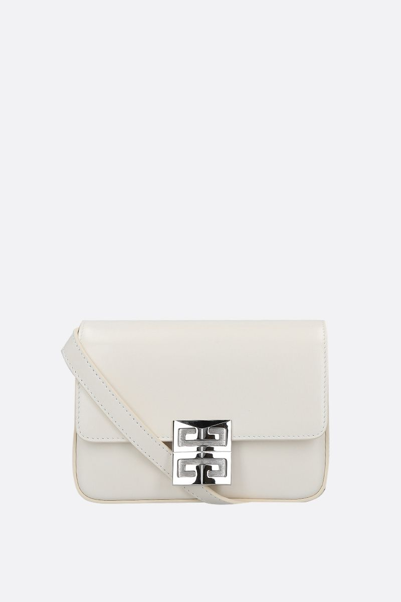 GIVENCHY: 4G small smooth leather shoulder bag Color White_1