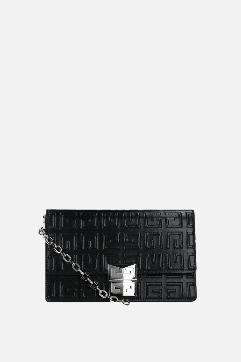 GIVENCHY: 4G small crossbody bag crossbody bag in 4G embossed leather Color Black_1