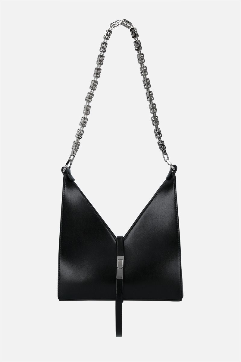 GIVENCHY: Cut Out mini shoulder bag in Box leather Color Black_1