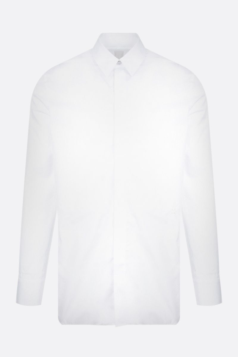 GIVENCHY: 4G embroidered poplin shirt Color White_1