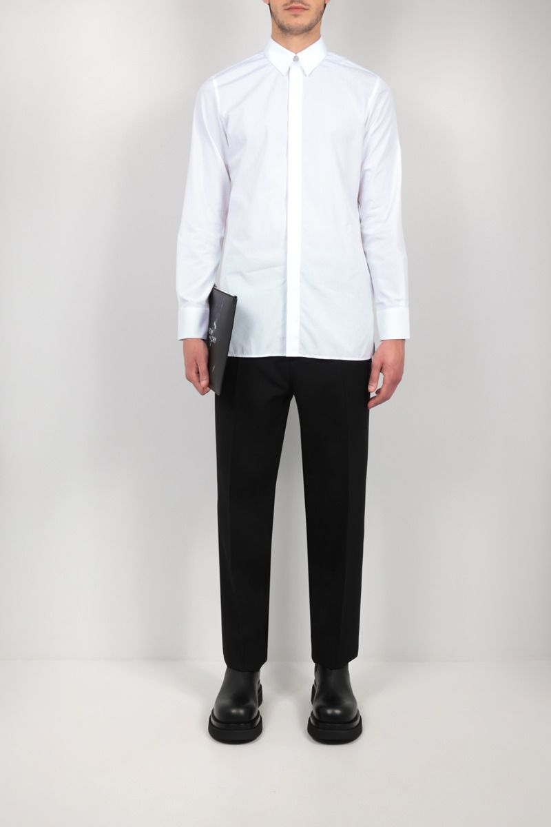GIVENCHY: 4G embroidered poplin shirt Color White_2