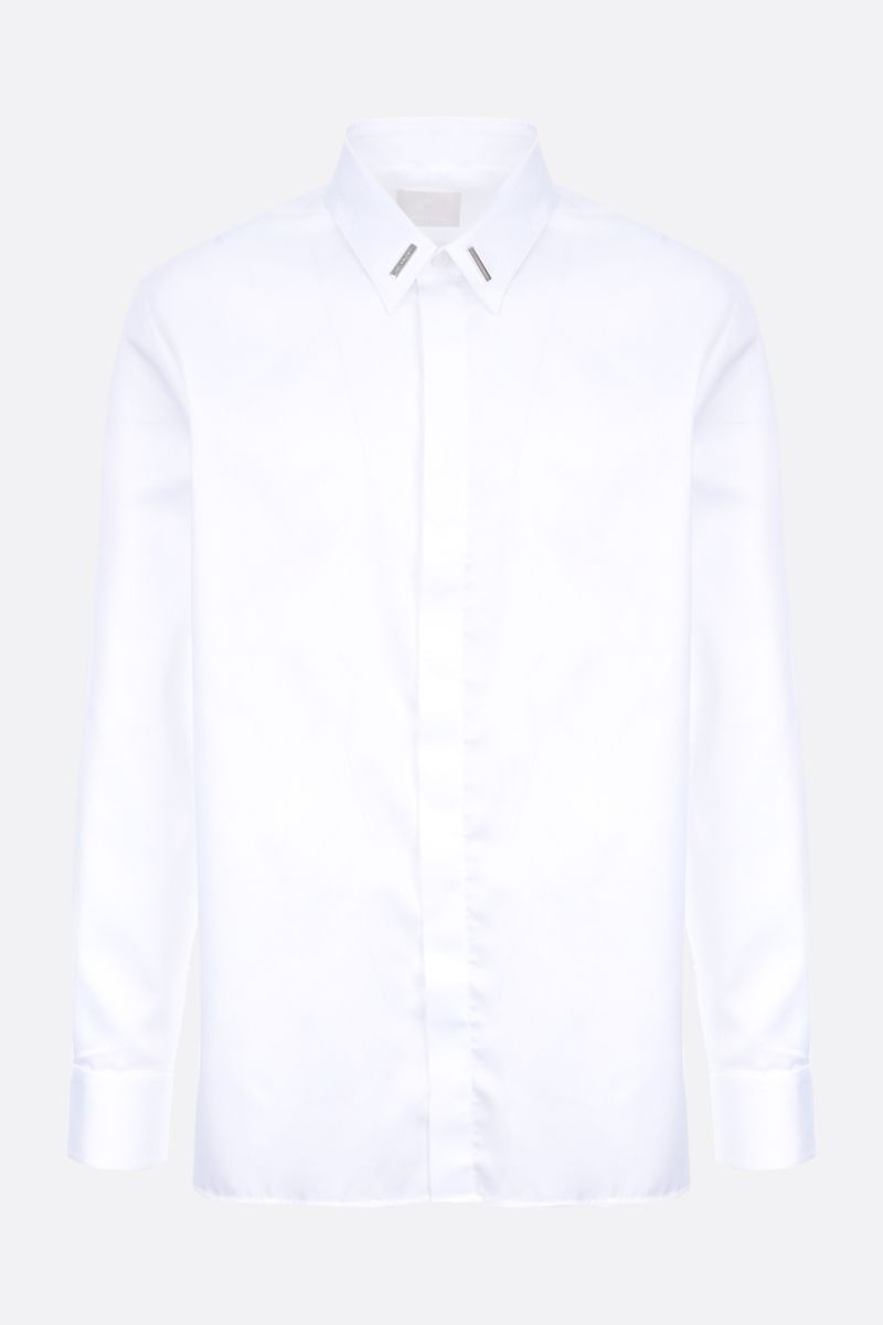 GIVENCHY: metal-detailed cotton shirt Color White_1