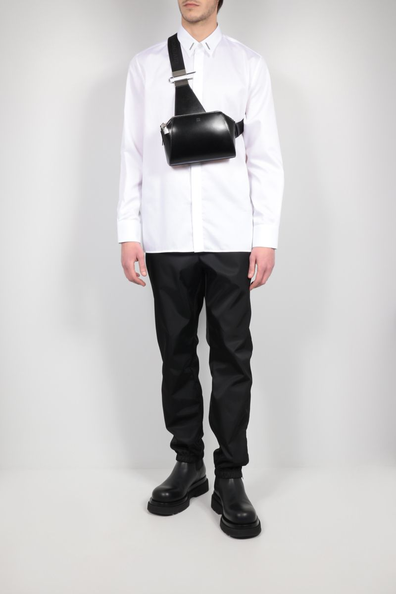 GIVENCHY: metal-detailed cotton shirt Color White_2