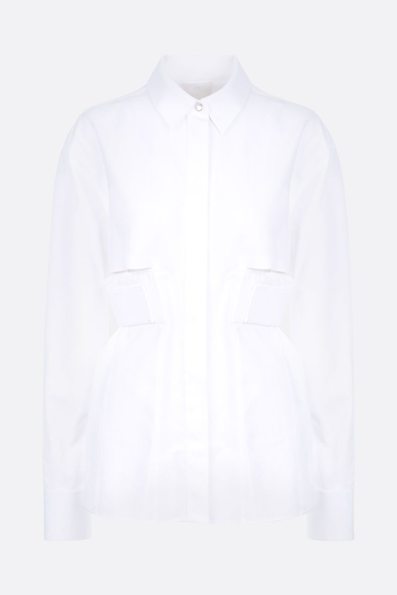 GIVENCHY: cut-out textured cotton shirt Color White_1
