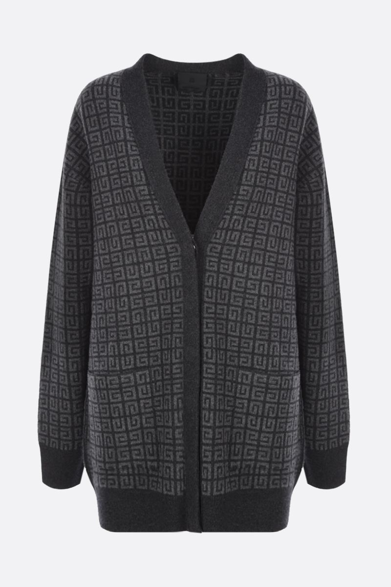 GIVENCHY: oversize 4G cashmere cardigan Color Grey_1